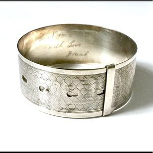 ANTIQUE Sterling silver buckle bracelet 925